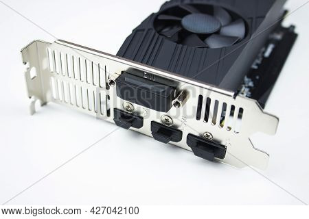 Video Graphics Card. Computer Video Card, Electronic Device Or Computer Part, Concept Computer Harwa