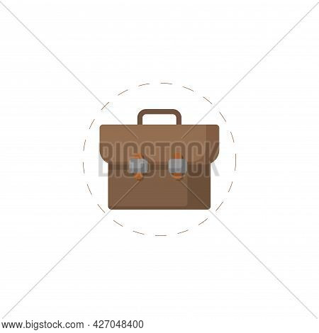 Briefcase Clipart. Briefcase Isolated Simple Flat Vector Clipart