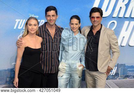 LOS ANGELES - JUL 15:  Becca Tobin, Josh Peck, Lyndsy Fonseca, John Stamos at Disney+