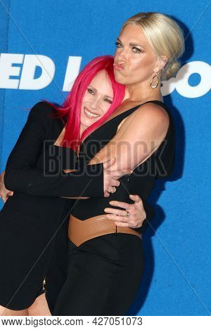 LOS ANGELES - JUL 15:  Juno Temple, Hannah Waddingham at the Ted Lasso Season 2 Premiere Screening at the Pacific Design Center Rooftop on July 15, 2021 in Los Angeles, CA