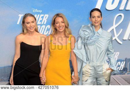 LOS ANGELES - JUL 15:  Becca Tobin, Vanessa Lengies, Lyndsy Fonseca at Disney+