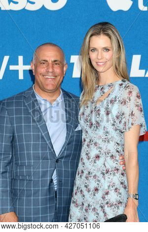 LOS ANGELES - JUL 15:  Ted Chervin, Anna Rawson at the Ted Lasso Season 2 Premiere Screening at the Pacific Design Center Rooftop on July 15, 2021 in Los Angeles, CA