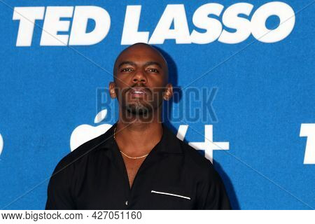 LOS ANGELES - JUL 15:  Carlis Shane Clark at the Ted Lasso Season 2 Premiere Screening at the Pacific Design Center Rooftop on July 15, 2021 in Los Angeles, CA