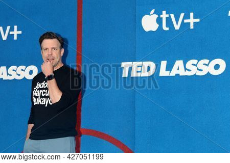 LOS ANGELES - JUL 15:  Jason Sudeikis at the Ted Lasso Season 2 Premiere Screening at the Pacific Design Center Rooftop on July 15, 2021 in Los Angeles, CA