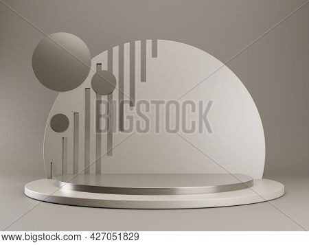 A stylish display showcase background for your content. 3D illustration