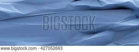 A blue low poly background banner. 3D illustration