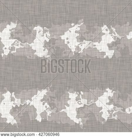 Seamless French Neutral Greige Mottled Farmhouse Linen Effect Background. Provence Grey White Rustic