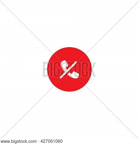 Block Call Button Icon Vector Isolated On White Background