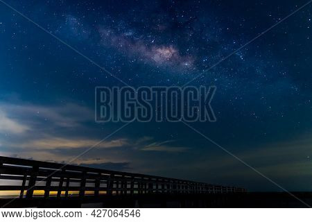 Beautiful Milky Way In The Sky Of Thailand In A Day Of Summer
