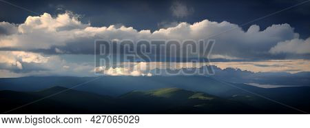 Summer landscape of Parang Mountains in Romania, Europe