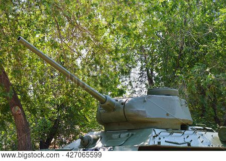 Elements Of The Vintage T-34 Tank, That Was Used During The Second World War