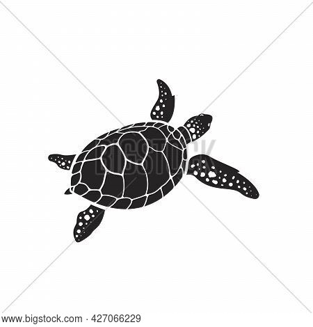 Vector Of Turtle Design On A White Background. Reptile. Animals. Easy Editable Layered Vector Illust