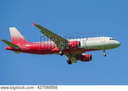 Saint Petersburg, Russia - May 29, 2021: Airbus A320-214