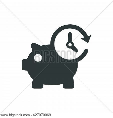Deposit Duration Icon. Meticulously Designed Vector Eps File.