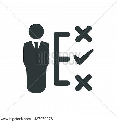 Business Decision Making Icon. Meticulously Designed Vector Eps File.