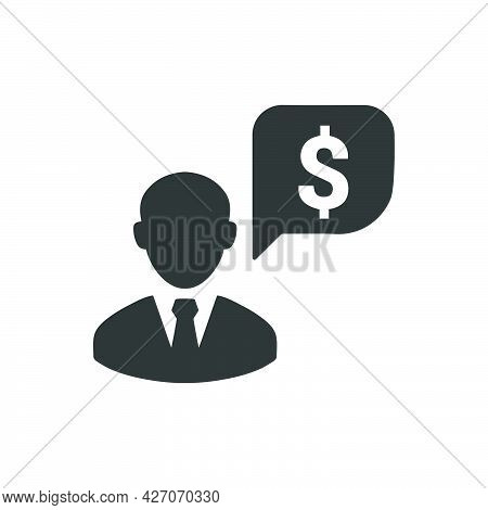 Financial Manager Icon. Meticulously Designed Vector Eps File.
