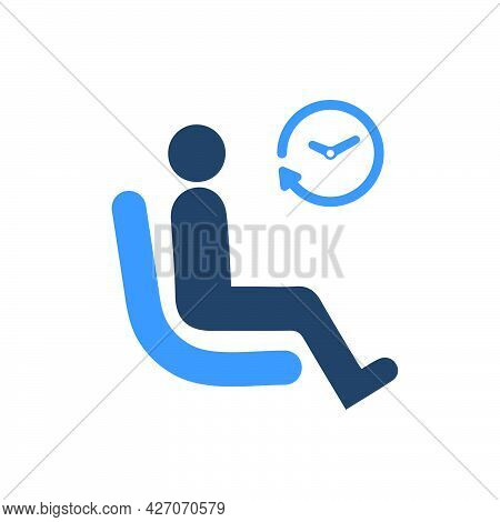 Waiting, Waiting Room Icon. Meticulously Designed Vector Eps File.