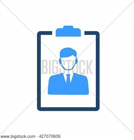 Candidate Resume Icon. Meticulously Designed Vector Eps File.