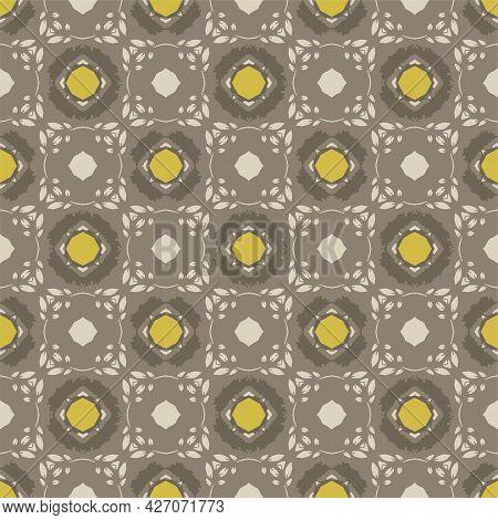 Songket Pattern Ornament With Vintage Batik Style
