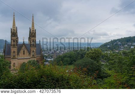 Majestic Catholic Cathedral In Remagen, Germany