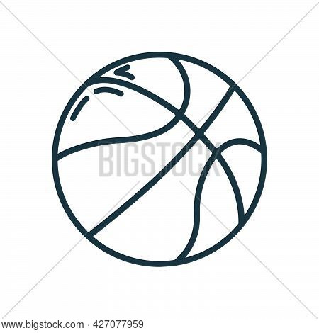 Basketball Ball Sport Equipment Icon, Educational Institution Process, Back To School Outline Flat V