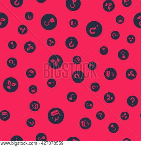 Set Hand Wash Laundry, Industrial Hook, Plant Based And Unknown Search On Seamless Pattern. Vector