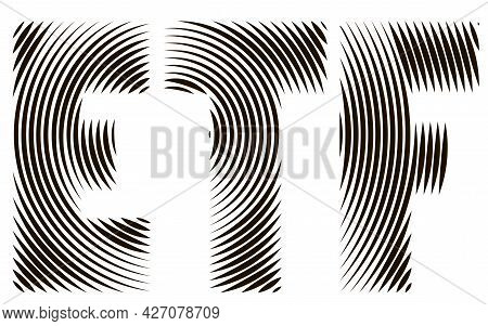 Etf - Exchange Traded Funds. Eps10 Vector Illustration Of Etf Signage Concept With Concentric Circle