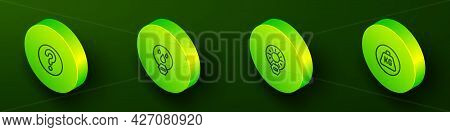 Set Isometric Line Unknown Search, Water Drop Forbidden, No Direct Sunlight And Weight Icon. Vector