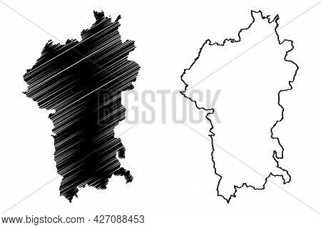 Odenwaldkreis District (federal Republic Of Germany, Rural District Darmstadt Region, State Of Hesse