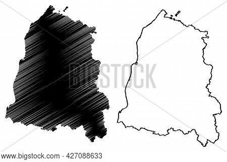 Ortenaukreis District (federal Republic Of Germany, Rural District, Baden-wurttemberg State) Map Vec