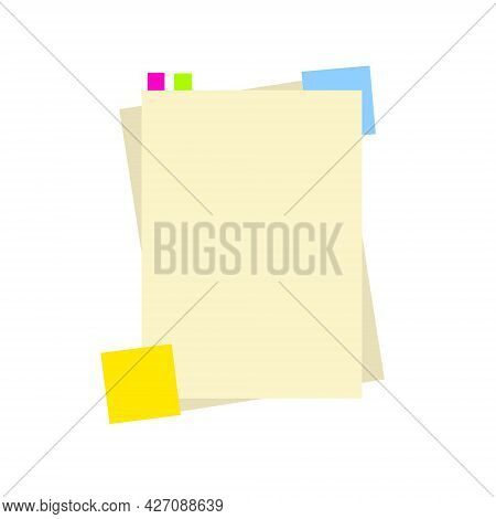Blank Sheet Of Notebook. Copy Space Of Book Or Textbook. Training And Education. The Template For Im