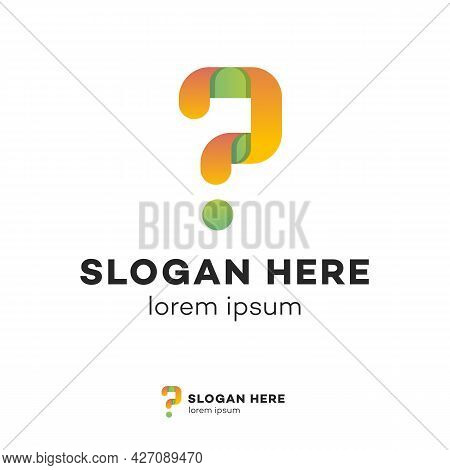 Question Vector Symbol For Quiz Logotype, Examination Test, Bubble Text, Help Sign, Faq, Banner. Que