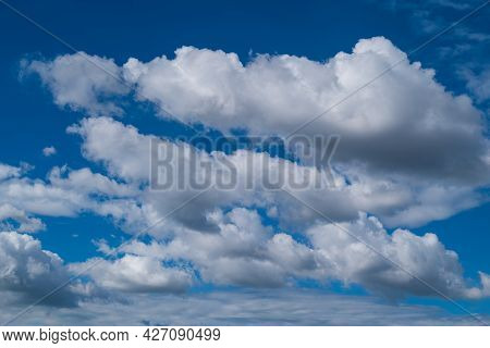 Blue Sky With White Clouds In The Day, Nature Background