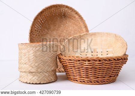 Handicraft Handmade From Natural Product On White Background. Biodegradable, Eco Friendy And Sustain