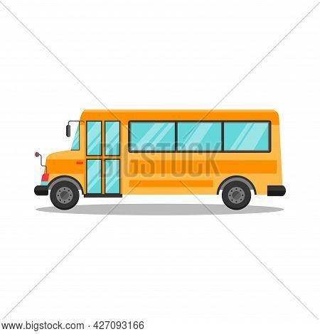 Bus Clipart. Bus Isolated Simple Flat Vector Clipart
