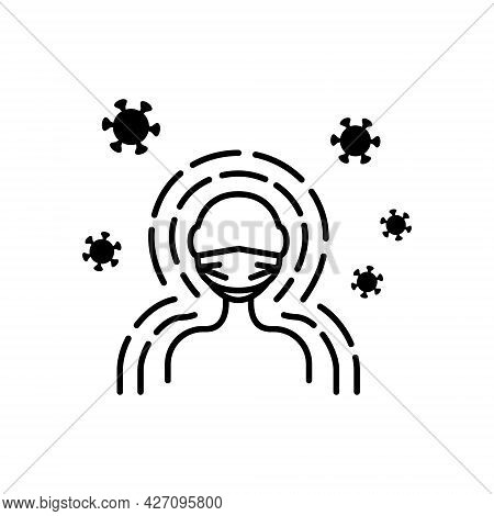 Immunity Flat Line Icons Set. Antibacterial Protection Or Immune System. Healthy Man Reflect Bacteri
