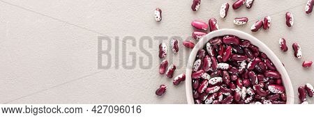 Legumes In Bowl And Scattered In The Background
