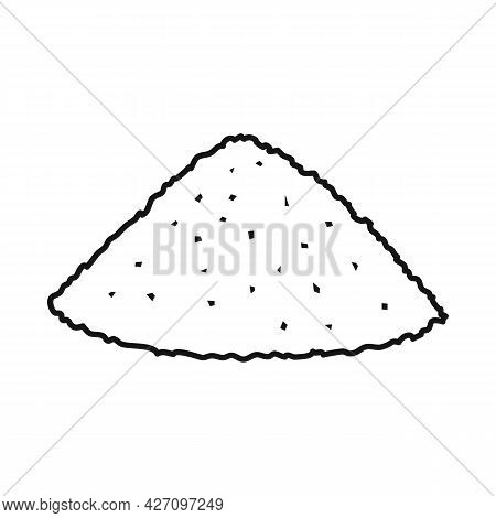 Vector Design Of Heap And Sugar Icon. Web Element Of Heap And Cane Stock Vector Illustration.