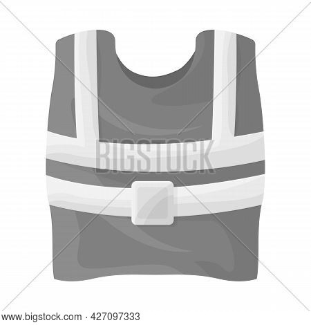 Vector Design Of Vest And Road Sign. Graphic Of Vest And Uniform Stock Vector Illustration.