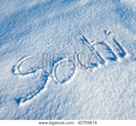 Sochi written in Snow
