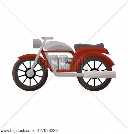Isolated Object Of Motorcycle And Old Sign. Graphic Of Motorcycle And Motorbike Stock Vector Illustr