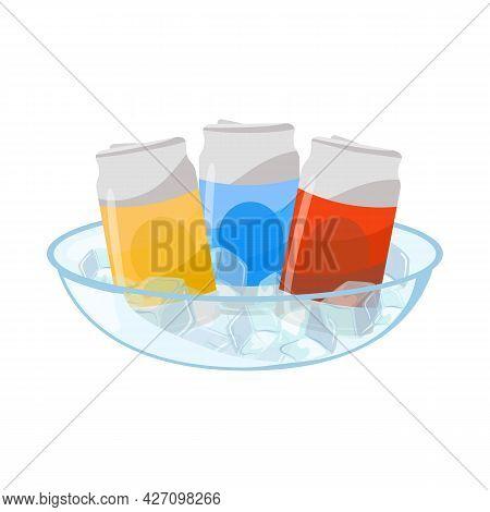 Vector Illustration Of Bottle And Soda Symbol. Collection Of Bottle And Aluminum Stock Vector Illust