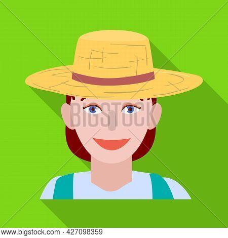 Vector Design Of Farmer And Woman Icon. Collection Of Farmer And Rural Vector Icon For Stock.