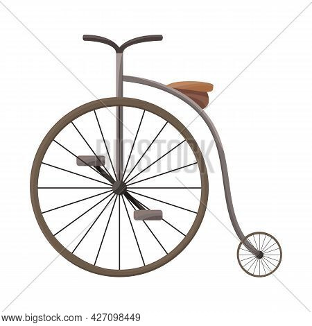 Isolated Object Of Bike And Old Sign. Graphic Of Bike And Bicycle Stock Vector Illustration.