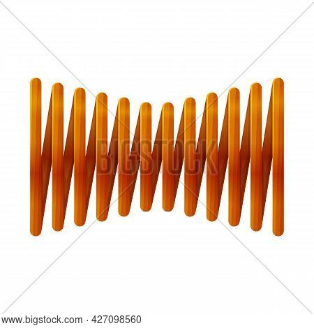 Isolated Object Of Coil And Spiral Symbol. Web Element Of Coil And Absorber Vector Icon For Stock.