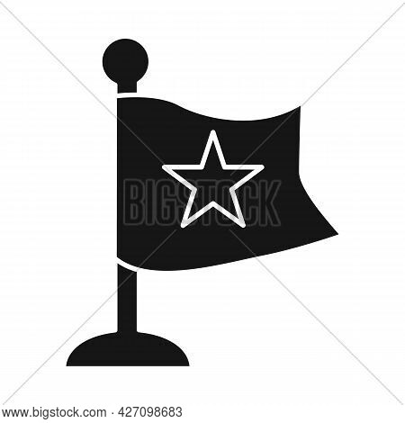 Isolated Object Of Flag And Red Sign. Collection Of Flag And Vietnamese Stock Symbol For Web.