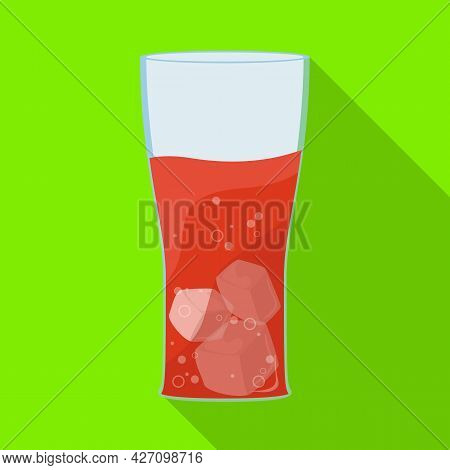 Vector Illustration Of Soda And Glass Symbol. Set Of Soda And Drink Vector Icon For Stock.