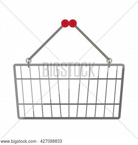 Vector Illustration Of Basket And Store Icon. Graphic Of Basket And Capacity Stock Vector Illustrati