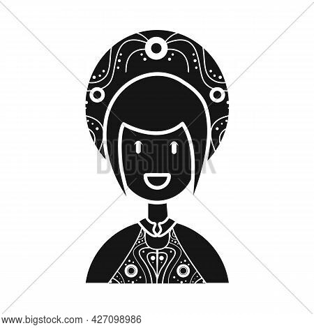 Vector Design Of Vietnamese And Woman Icon. Collection Of Vietnamese And Girl Stock Symbol For Web.