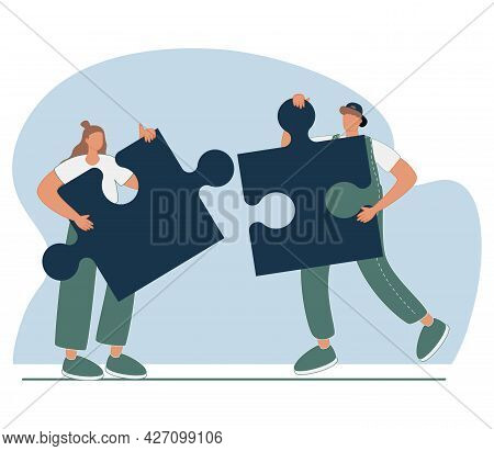 Cooperation And Teamwork Abstract Concept Vector Illustration. Crowdfunding And Partnership, New Ide